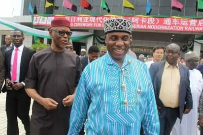 All Progressives Congress (APC) National Chairman Chief John Odigie Oyegun and Minister of Transportation, Mr Chubuike Amaechi