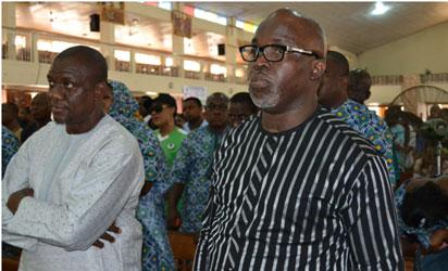 From Left: Richard Aburime(Keshi's brother -in-law) and Amaju Pinnick (NFF President)