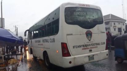 FC Ifeanyi Ubah's bus hurled with stones by irate fans of Heartland FC