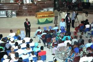 All the Congregation in honour of  at Redeemed Chrirtian Church of God Kubwa in Abuja on Saturday photo by Gbemiga Olamikan