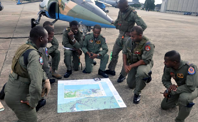 Nigerian Air Force strikes criminal camps and hideouts at Arepo and environs