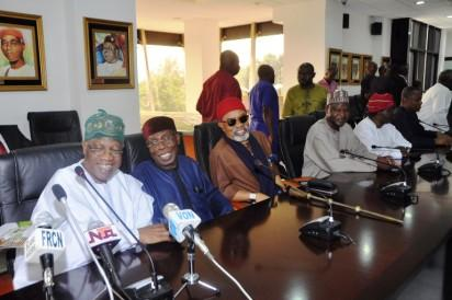 Minister of Information and Culture,  Alhaji Lai Mohammed, Ministers  of Agriculture, Chief Audu Ogbeh  and Ministers of Labour and Employment, Dr. Chris Ngige; Foreign Affairs, Mr. Geoffrey Onyeama