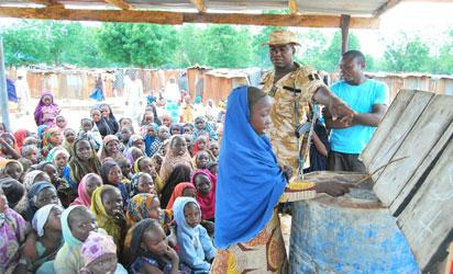 Bama IDPs in peaceful demonstration
