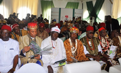 Monarchs at the South-east edition of the Federal Government's Town Hall Meeting.