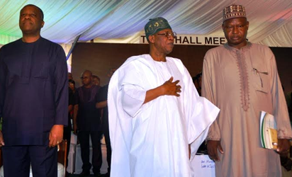 Minister of  Foreign Affairs, Mr. Geoffrey Onyeama, Minister of Information and Culture,  Alhaji Lai Mohammed and  Minister of State for Environment, Mallam Ibrahim Usman Jibril