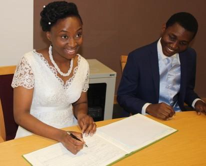 Wedding – Anu Yusuf and Joseph Kolawole Ola marry at Birmingham Register Office