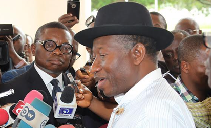 Former President Dr Goodluck Ebele Jonathan at the State House in Abuja
