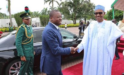 President Muhammadu Buhari receives his Togolese Counterpart, President Mr Faure Gnassingbe on a courtesy visit at the State House in Abuja