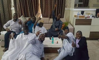 Gov. Bello jubilation with aids after Supreme court victory