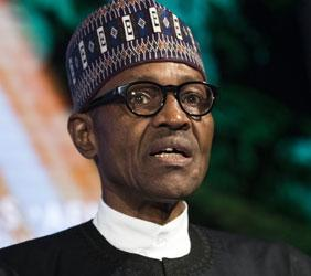 President of Nigeria Muhammadu Buhari speaks at the U.S.-Africa Business Forum at the Plaza Hotel, September 21, 2016 in New York City. The forum is focused on trade and investment opportunities on the African continent for African heads of government and American business leaders.