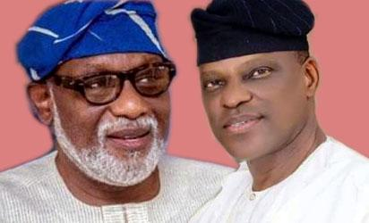 Jegede: PDP candidate, and former Attorney General and Akeredolu: APC Candidate and former Attorney General