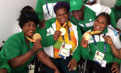 Some of Nigeria's Paralympic team