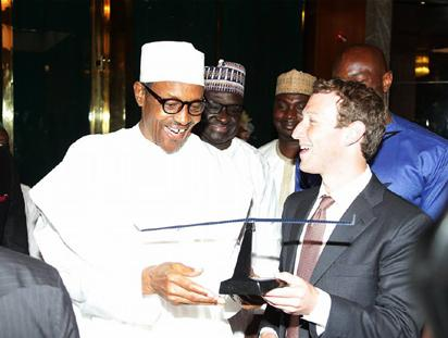 Facebook Founder, Mark Zuckerberg visits President Muhammadu Buhari in Aso Villa on Friday, September 2, 2016.