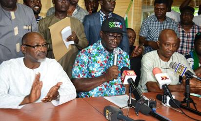 Obaseki  in press conference