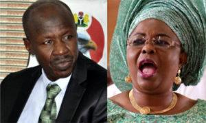 EFCC boss Magu and Patience Jonathan