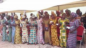 The 21 schoolgirls at the thanksgiving service in Abuja.