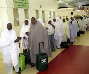 Nigerian pilgrims going to the  last Hajj in Mecca