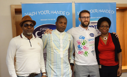 LAUNCH:  From left: Campaign Ambassador, Mr.  Sunny Neji , Concern Universal, Mr Tim Kellow, Managing Director, PZ Cussons family, Mr Alex Goma and PZ Cussons Foundation Mrs Yomi Ifaturoti during the media launch of the campaign in Lagos.