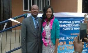 Mrs Rose Nkemdilim Obi the award winner and her husband Mr. Obi a legal practitioner in Onitsha.