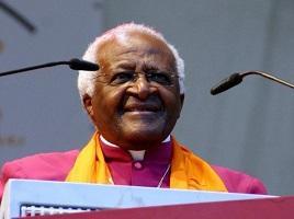 85-years-old Archbishop Desmond Tutu of South Africa.