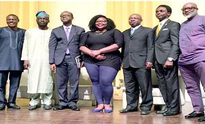 (L-R): Deji Irawo, Imam Lukman,Olajide Bello, Wana Umana, the moderator, T. Elias, Pastor Fredrick Thomas, Lanre Olusola, panelists during the DSVRT event.