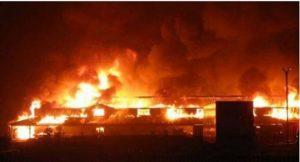 Midnight fire engulf second hand clothes market