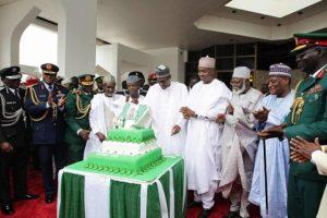 President Buhari participates at the 56th Independence Anniversary programme Presidential Change of Guards Parade at the Statehouse on 1st October 2016.