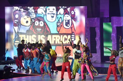 Dancers perform during the All Africa Music Awards (AFRIMA) ceremony in Lagos on November 6, 2016. The All Africa Music Awards is designed to recognise and reward artists who have given African music the most creative competitive edge in the global market within the year under review.  AFP