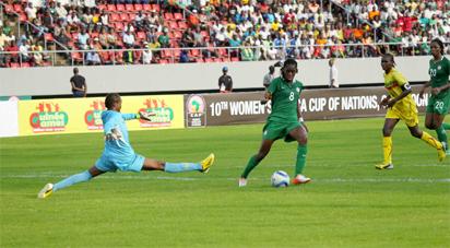 Super striker Asisat Oshoala in action against Mali