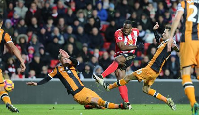 Victor Anichebe in action for Sunderland