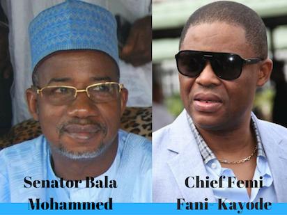 Senator Bala Mohamme and  Chief Femi Fani- Kayode
