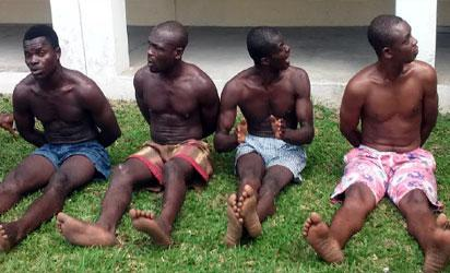 4 military men, 7 others arrested for robbery