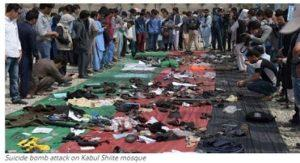 Suicide bomb attack on Kabul Shiite mosque