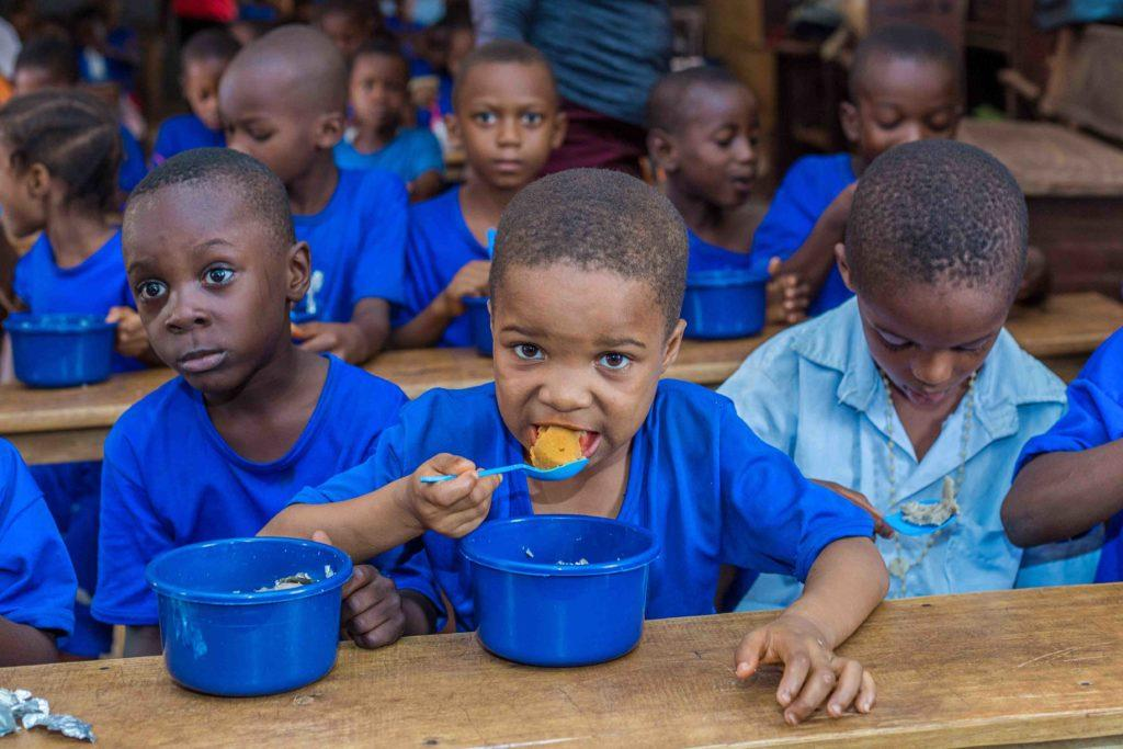 Buhari feeds 3m school kids