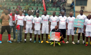 Victor Ikpeba,Emmanuel Babayaro, Victor Agali, Ifeanyi Udeze, Emmanuel Okocha,Henry Nwosu and other 1/2 Ex internationals at #HandsUpForHIV
