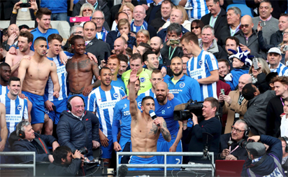 Townsend backing promoted Brighton to survive then thrive in Premier League