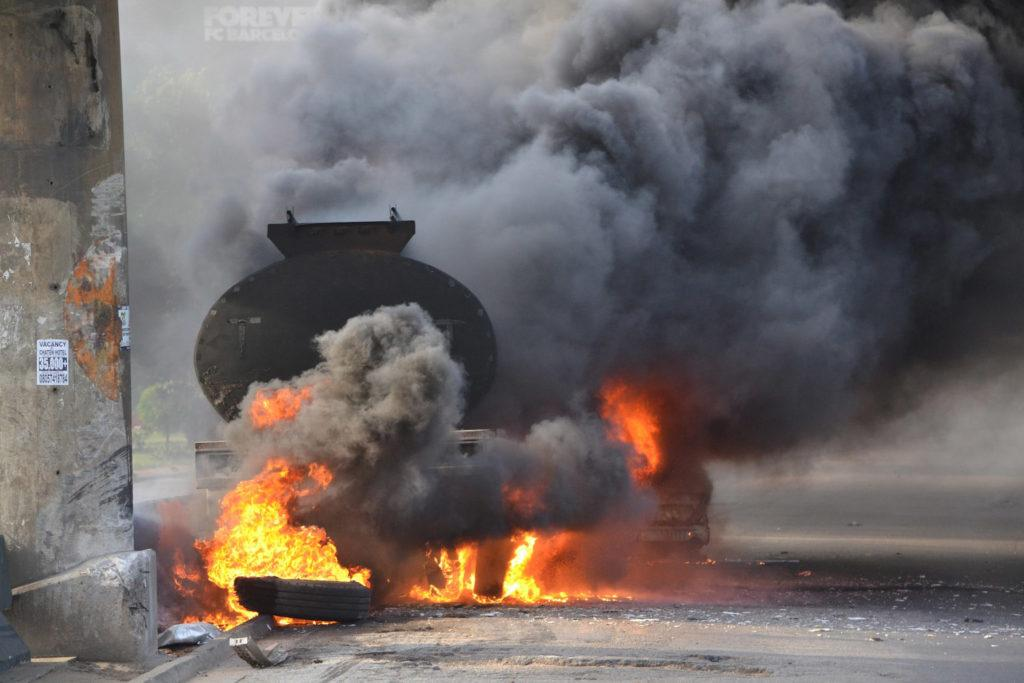 adulterated diTanker explosion claims 7 lives at Idiroko — FRSCesel, diesel,Army