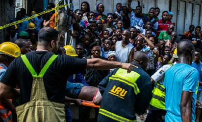 Two dead as building collapses in Lagos