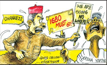 Arewa youth's Oct 1 deadline: Lawyers advise Ndigbo in north to return home