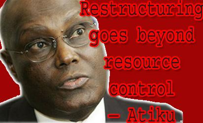 Atiku's restructuring call: In the right direction?