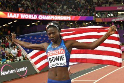 Athletics: Bowie wins women's 100m world title, Thompson flops