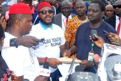 Photos: Igbo groups during a rally in support of President Buhari