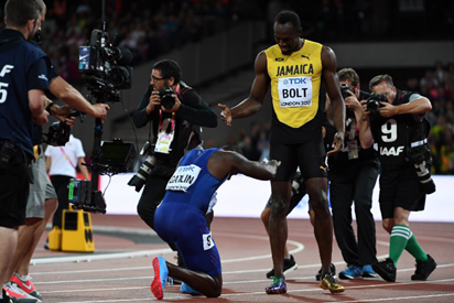 Gatlin's father flays London crowd for booing son