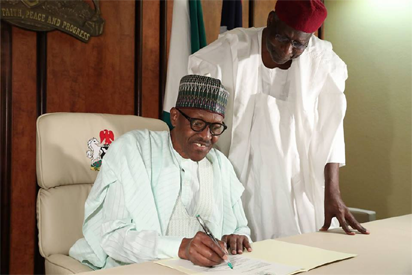 President  Buhari writes National Assembly on resumption of duties