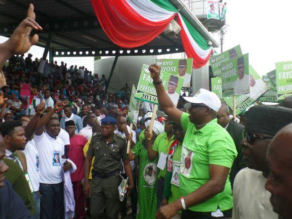 Fayose Tells Nigerians, 'I'm Already In Aso Rock,' Send In Congratulatory Messages