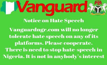 Notice on hate speech