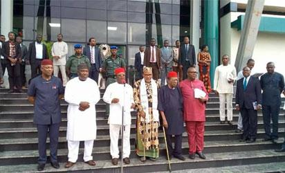Photos: South-East Govs, Kanu agree on Biafra in closed-door meeting