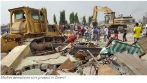 Three die in Owerri market's protest