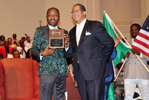 Apostle Suleman receives highest Georgian award, Doctorate Degree in US