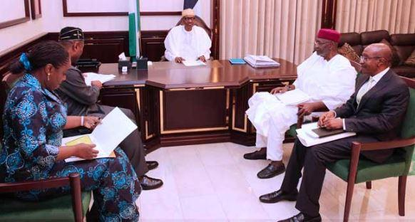 Buhari meets Saraki, Dogara after Aso Rock 'security screening' drama